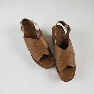 🧡Tory Burch Gloriette Platform Sandal Tan 8M